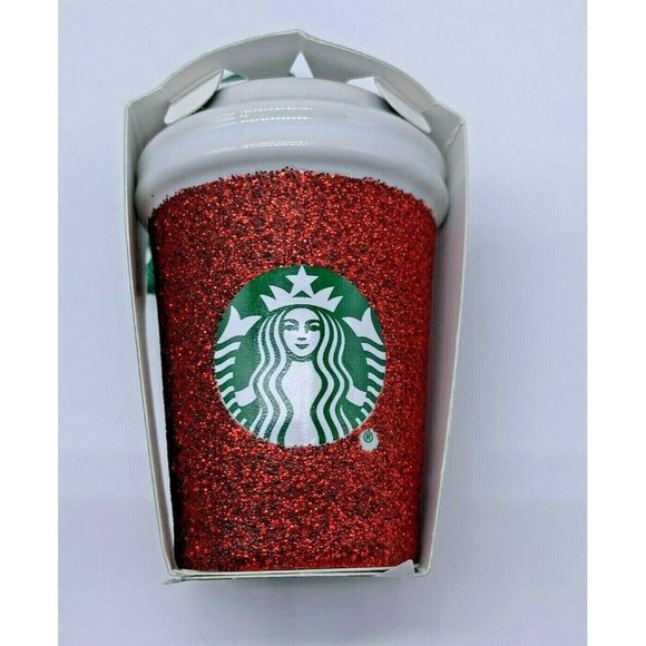 Starbucks 2019 Holiday Glitter Red Mini Cup Tumble
